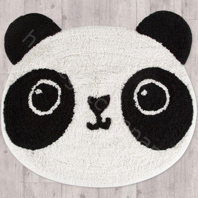 Sass & Belle Kawaii Panda Rug 100% Cotton Carpet Mat Kids Childrens Room Decor