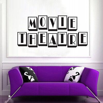 HOME CINEMA MOVIE CAMERA FILM REEL  VINTAGE THEATRE Vinyl Wall art sticker decal