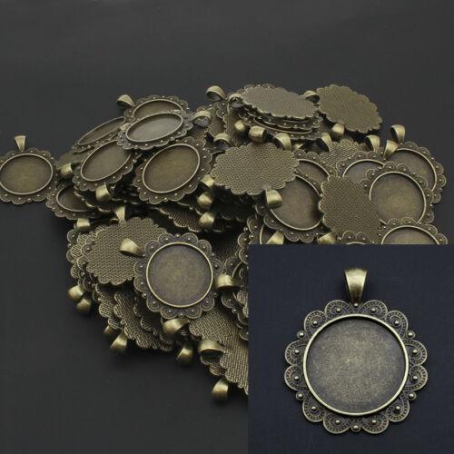 15 versions Bronze Couleur pendentif vintage pour 25mm cabochons-p00709x5
