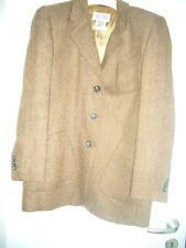 LUXUS ESCADA TWEED KUSCHEL Blazer Jacket Jacke 36/38 Cashmere braun Seide Golf