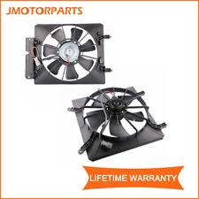 2 Set Radiator AC Condenser Cooling Fan Assembly For 2002-2006 Honda CRV EX LX
