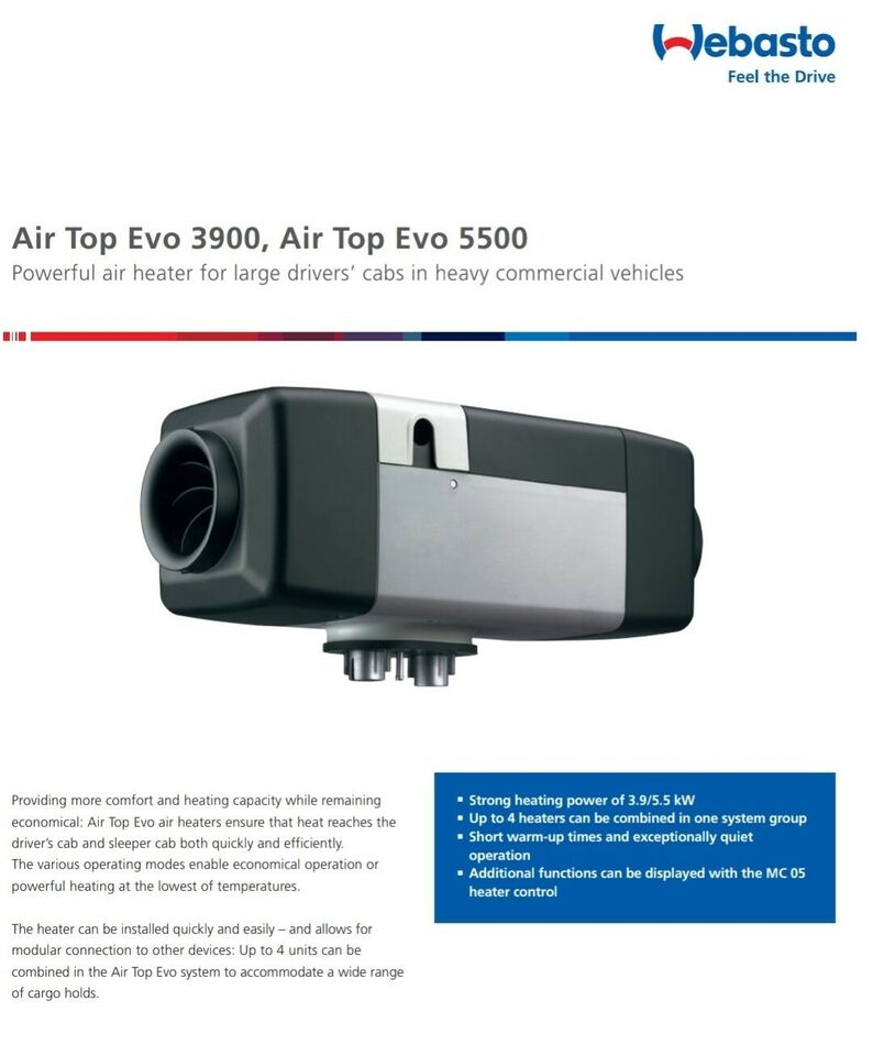 Bilvarmer, WEBASTO AIR TOP EVO 3900