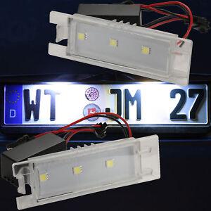 LED-Eclairage-pour-Plaque-D-039-Immatriculation-Fiat-Bravo-Croma-Linea-71001-5050