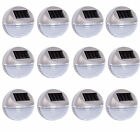 12 X Outdoor Garden Decorative Solar Wall Frence LED Lights Gutter Lamps Silver
