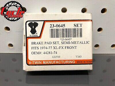 Dura Semi-Metallic Rear Brake Pad Set fits Harley-Davidson