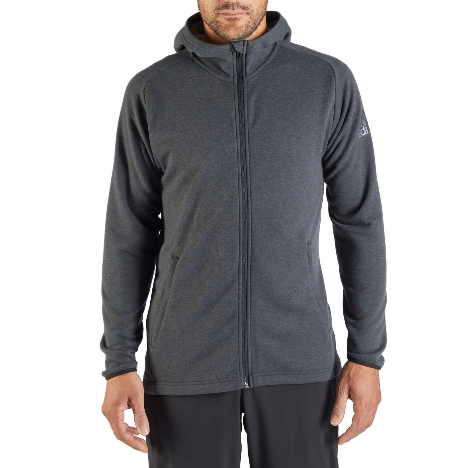 Adidas Herren Kapuzensweatjacke Sportjacke Jacke Oberbekleidung Sport Mode grau grau grau 9d686e