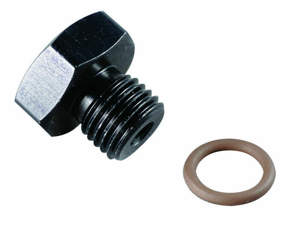 Fragola 492908-BL 8 AN Aluminum Flare Cap Fitting Black IMCA USRA NHRA