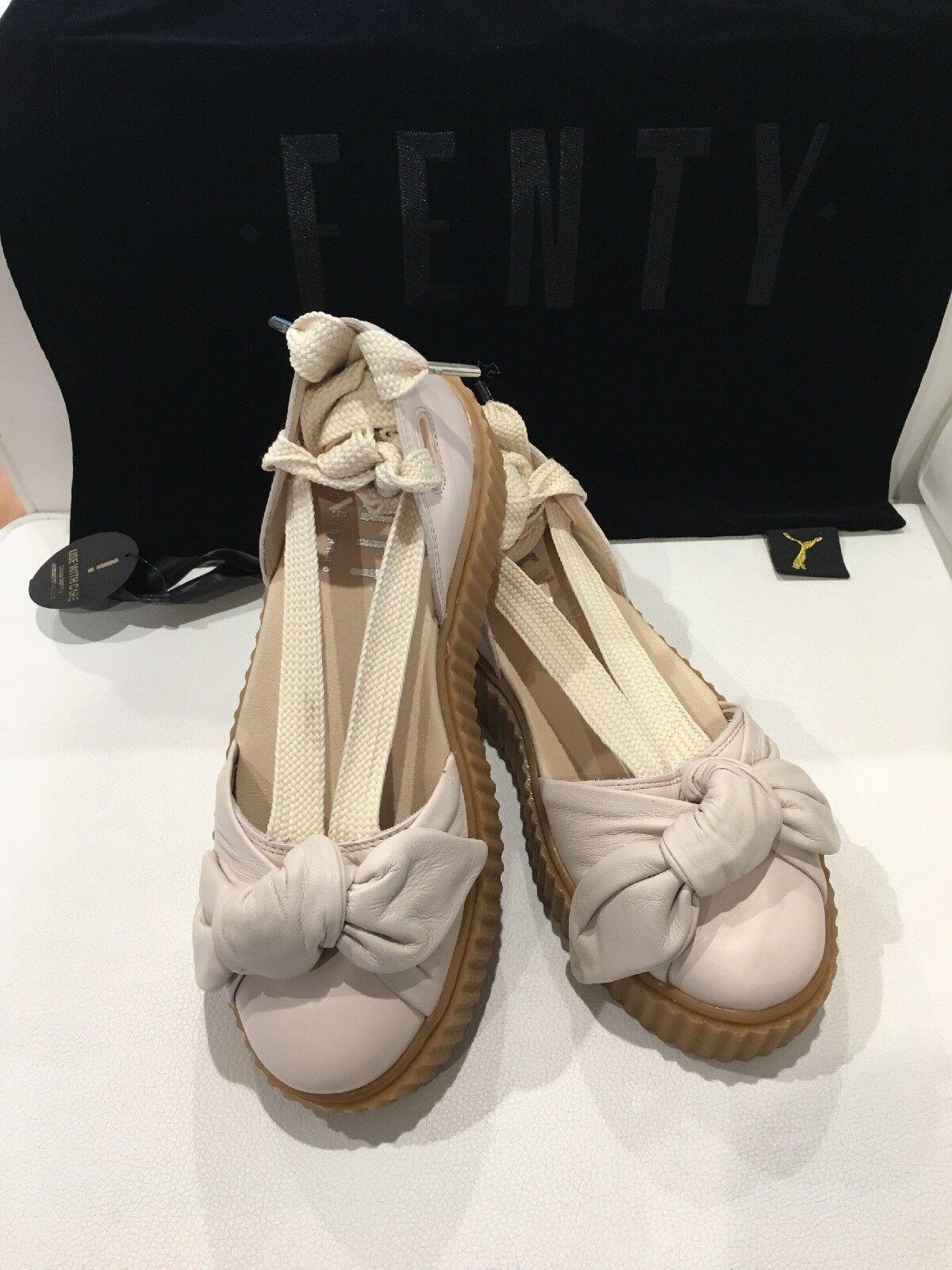 39674acb71f Puma Puma Puma Fenty by Rihanna Bow Creeper Sandal Pint Tint Oatmeal Womens  Shoe Size 6.5 7e61dc