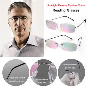 a1175839e32ac Image is loading Presbyopic-Eyeglasses-Ultra-light-Memory-Titanium-Reading- Glasses-