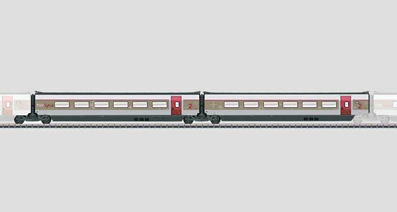NEW MARKLIN 43432 ADD ON SET 2 for TGV LYRIA ERGANZUNGSWAGEN SET 2 SBB SNCF R6/7