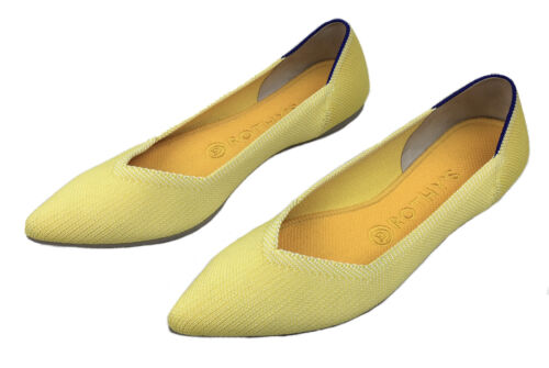 Rothy's The Point Flat Shoes Size 8 Sunshine Yello