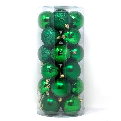 "Allgala Christmas Tree Ornament Balls 24 PK 4 Style 2.5/"" Xmas Balls"