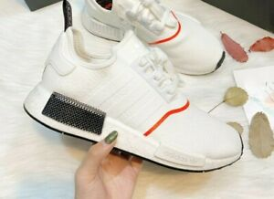 Adidas Originals Nmd R1 Cloud White Solar Red Black Winter Ee5086