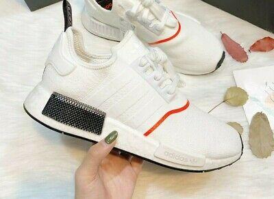 Adidas Originals Nmd R1 Cloud White Solar Red Black Winter Ee5086 Mens Sizes Ebay