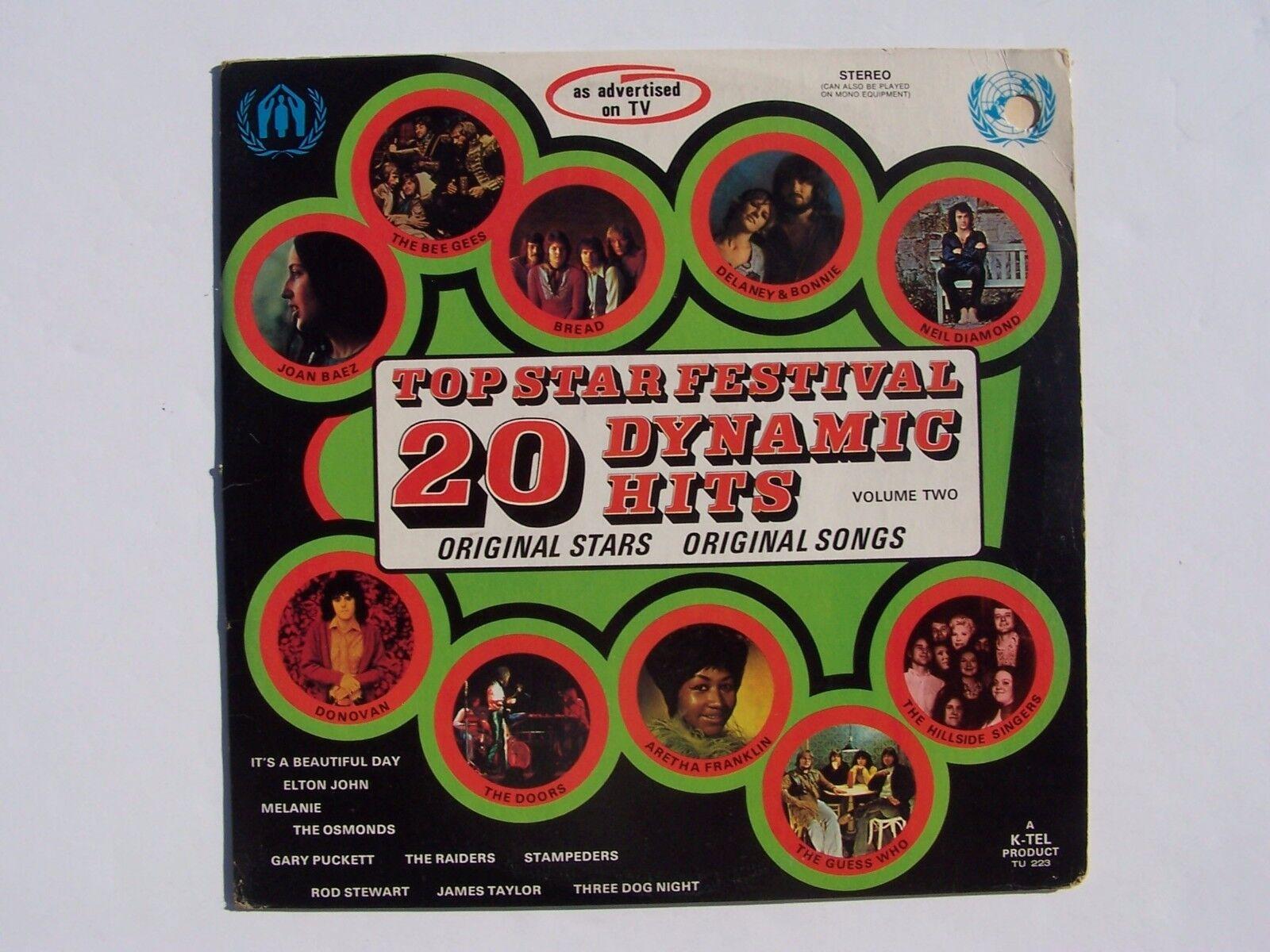 20 Top Star Festival Dynamic Hits Volume Two Vinyl LP R