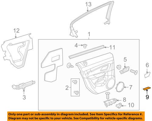 96951326 Black Rear Door-Switch Bezel Mat Right Chevrolet GM OEM 11-15 Cruze