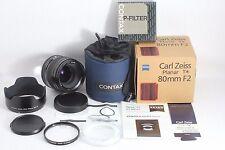 Contax 645 Carl Zeiss Planar 80mm f/2 w/ Lens hood GB-72 & P-Filter