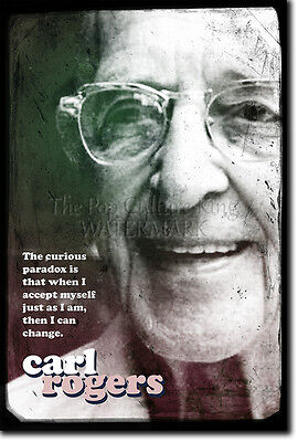 CARL ROGERS ART PRINT PHOTO POSTER GIFT QUOTE PSYCHOTHERAPY THERAPY THERAPIST