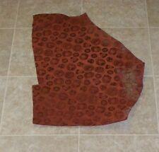 (HBA7835) Hide of Red Brown Air Force Embossed Cow Suede Leather Hide Skin