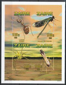 [213] Zaire Bloc 70A** Insectes - non dentelé. Superbe. Cote : 44 €