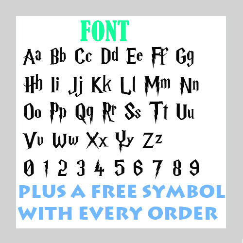 Harry Potter Style Text Personalised Name  Sticker Custom Decal Transfer