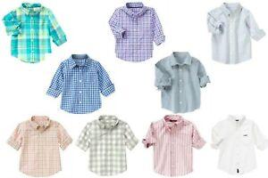 NWT-Gymboree-Boy-039-s-Spring-Dress-Shirts-U-Pk-18-24m-2T-4T-Kid-3-4