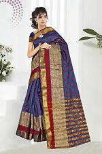 New Designer Sari Indian Ethnic Banarasi Silk Wedding,Partywear Saree Blouse