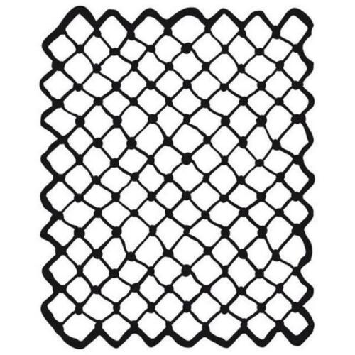 20 cm x 25cm-net réseau-kstd 019 Gabarit-Mixed media-Stamperia