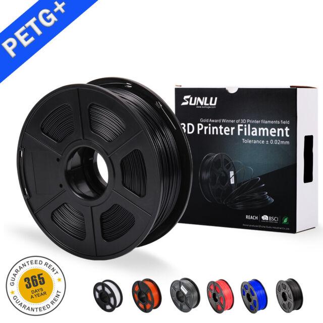3D PETG Printer Filament 1.75mm 1KG/2.2LB Spool Black PETG 3D Printer Consumable