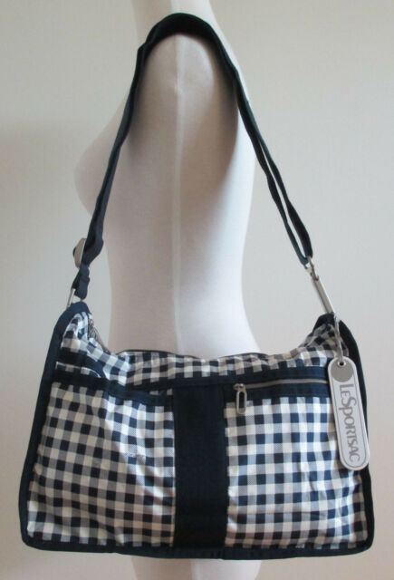 Lesportsac Essential Everyday Bag Gingham Classic Navy C Nwt