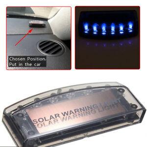 Details about Universal Solar Energy Blue Car Security Alarm Warning Theft  Flash Sensor Light