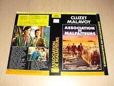 JAQUETTE VHS Association de malfaiteurs François Cluzet Christophe Malavoy