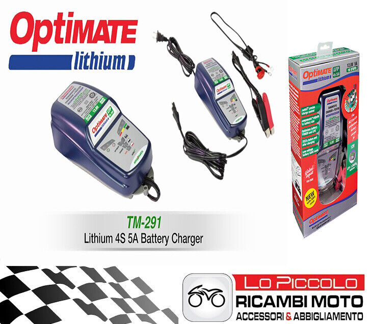 Chargeur de Batterie Optimate TM 290 Techmate Moto Lithium
