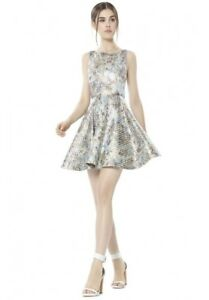 b29c04dfb97 Image is loading Alice-Olivia-White-Port-Party-Jacquard-Metallic-Sparkly-