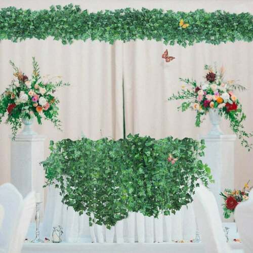 room decor garland Artificial Greenery vines for decor Fake Ivy Leaves 12pk.