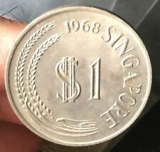 1968 Singapore Lion S$1 Nickel/copper  coin    high grade!