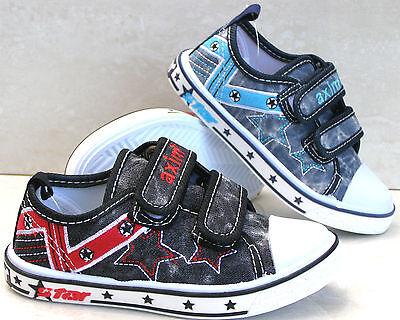 Nuevos Zapatos De Lona Zapatillas De Tenis Plantillas De Cuero Niños Escuela Azul Marino Zapatillas Tallas 10 11