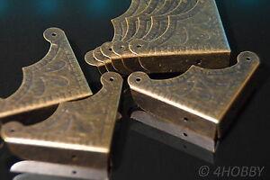 Antiquitäten & Kunst Scrapbooking & Papierbasteln 8x Antik Schutzecken Schatulle Schatzkiste Verzieren Ecken Alt Schatztruhe Diy Hohe Belastbarkeit