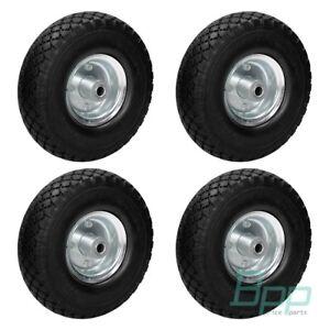 4x-Sackkarrenrad-Bollerwagenrad-Sackkarre-PU-3-00-4-Vollgummi-Ersatzrad-Reifen