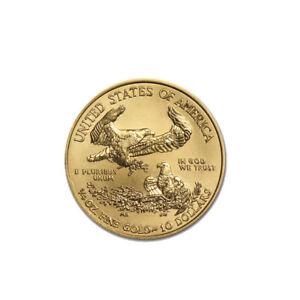 1/4 oz Gold American Eagle $10 US Mint Gold Eagle Coin Random Date
