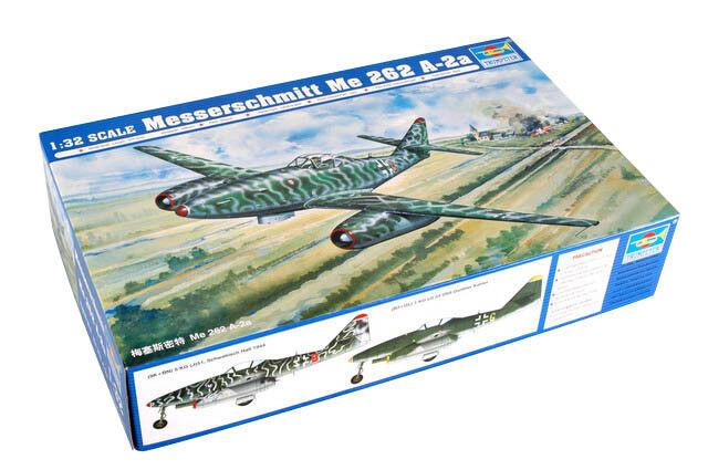 Trumpeter 9362236 Messerschmitt Me 262 A-2a 1 32 Bomber Flugzeug Modellbausatz  | Rabatt