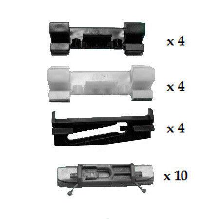 Bmw Serie 7 E65 2001-2008 Parabrisas un pilar /& Techo Clip Kit 22 Piezas Oem
