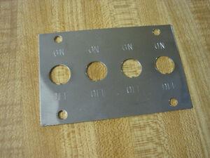 vintage dash panel switch plate x4 fog light heater fuse box rat rod scta ebay