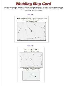 150 Wedding Map Cards Printed In Black Inserts Size 4x5 No