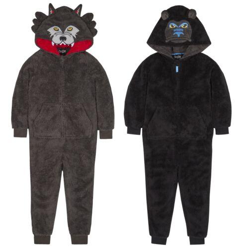Ragazzi Novità Animale Cappuccio Snuggle Pile Onezee ~ Gorilla o WOLF