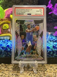 2019 Panini Prizm DP Zion Williamson #64 Mojo Prizm Rookie Card PSA 10 - POP 8