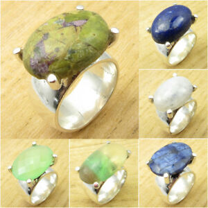 925 Sterling Silver Unakite Ring Size 10.25 Gemstone Art Jewelery Jewelry & Watches
