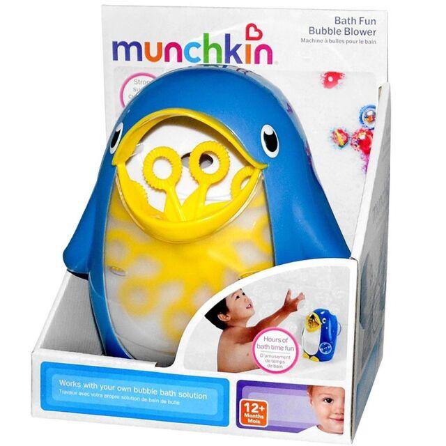 MUNCHKIN: Seifenblasen Pinguin Badespaß Seifenblasenmacher Baby Badespielzeug