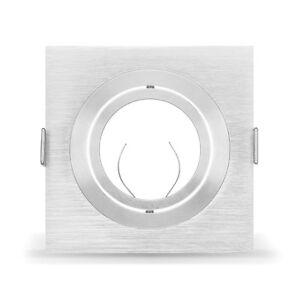 LED Einbaustrahler aus Aluminium I Einbaurahmen Eckig Einbauspot Deckenstrahler