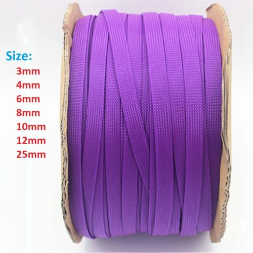 3mm-25mm Purple Expandable Braided Cable Sleeving//Sheathing//Auto Wire Harnessing